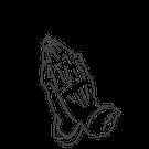 911 - Betende Hände (3,4x4,7cm)