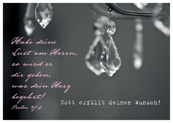 """Postkarte """"Gott erfüllt deinen Wunsch!"""""""