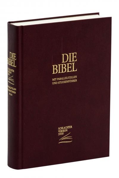 Schlachter 2000 Standardausgabe - Kunstleder weinrot / Hardcover / Fadenheftung / neue Rechtschreibu