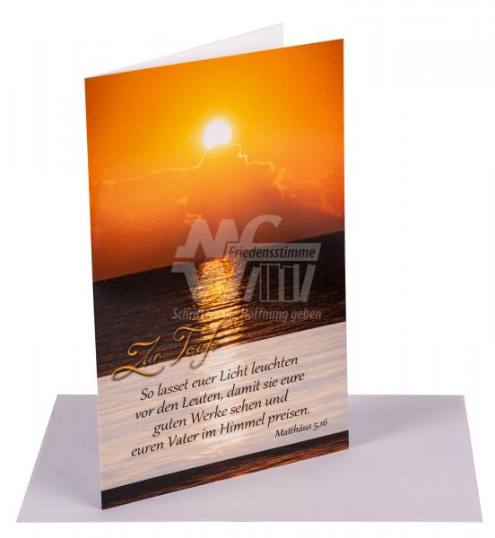 "Faltkarte zur Taufe ""Sonnenaufgang"""