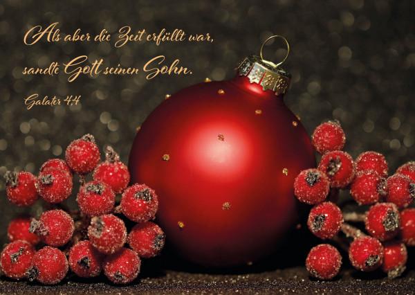 Postkarte - Weihnachtskugel