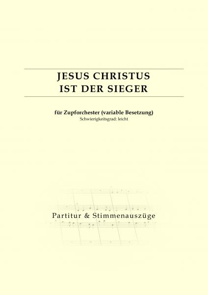 Partitur - Jesus Christus ist der Sieger