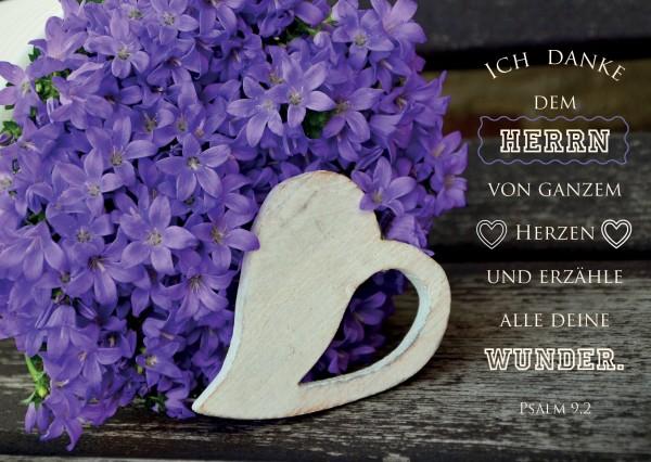 """Postkarte """"weißes Herz"""""""