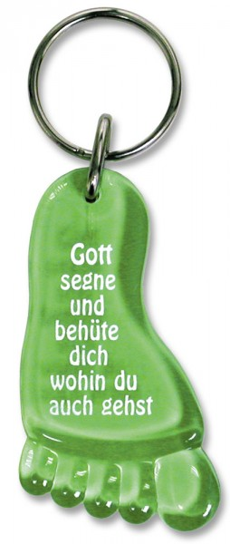 "Schlüsselanhänger ""Fuß"" grün"