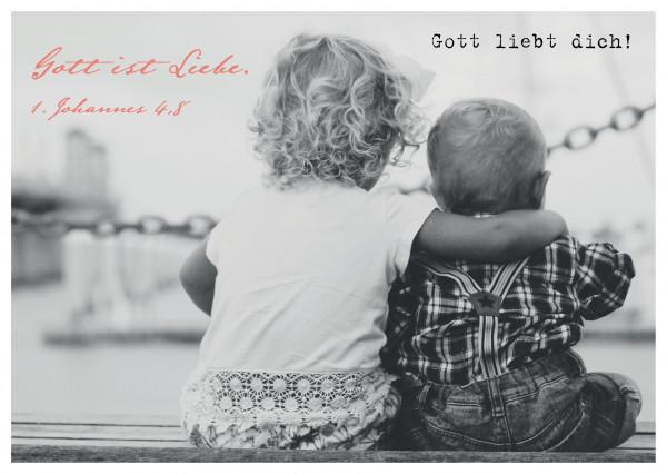 """Postkarte """"Gott liebt dich!"""""""