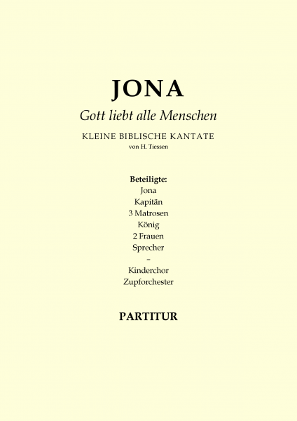 Jona-Gott liebt alle Menschen (Partitur)