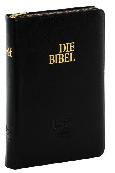 Schlachter 2000 Taschenausgabe -Kalbsleder schwarz / flexibler Umschlag / Goldschnitt / Reißverschlu
