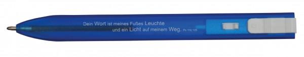 """Kugelschreiber """"Flach"""" in blau"""