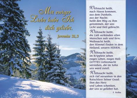"""Postkarte """"Weihnacht heißt"""""""