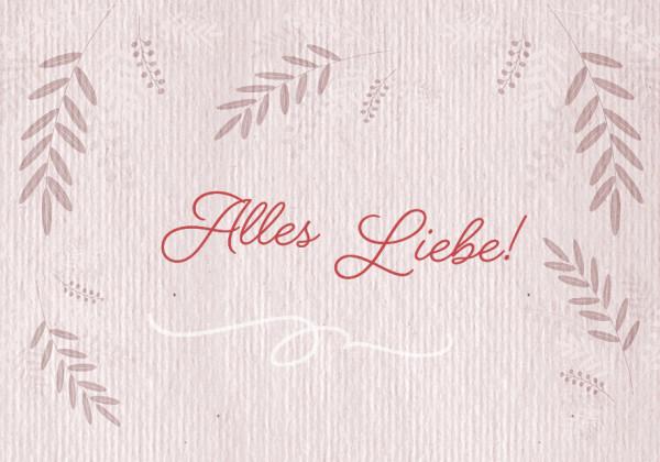 Faltkarte - Alles Liebe!
