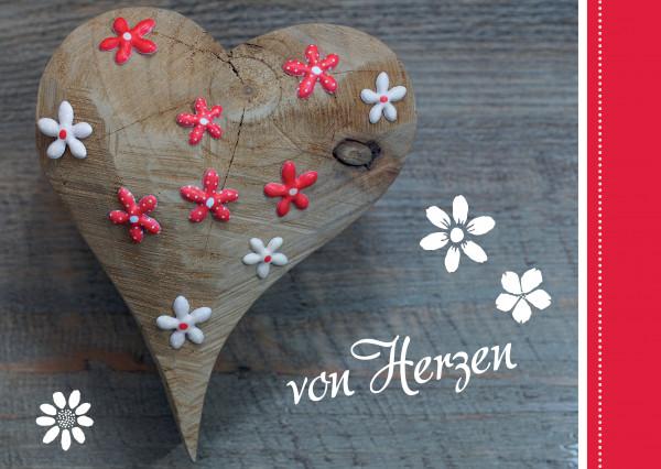Postkarte - Von Herzen