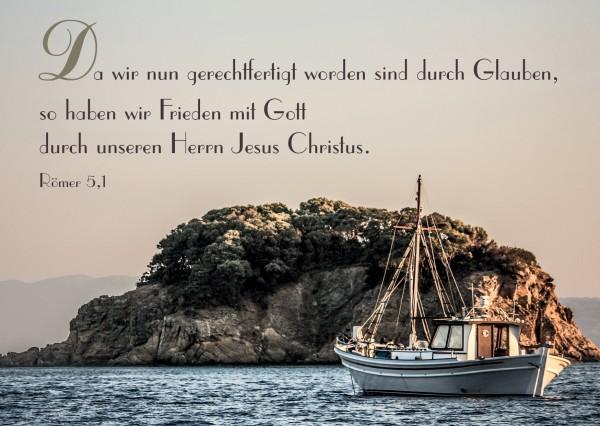 """Postkarte """"Frieden mit Gott"""""""