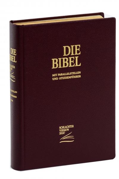 Schlachter 2000 Standardausgabe - Rindleder weinrot / Hardcover / Goldschnitt / Fadenheftung / neue