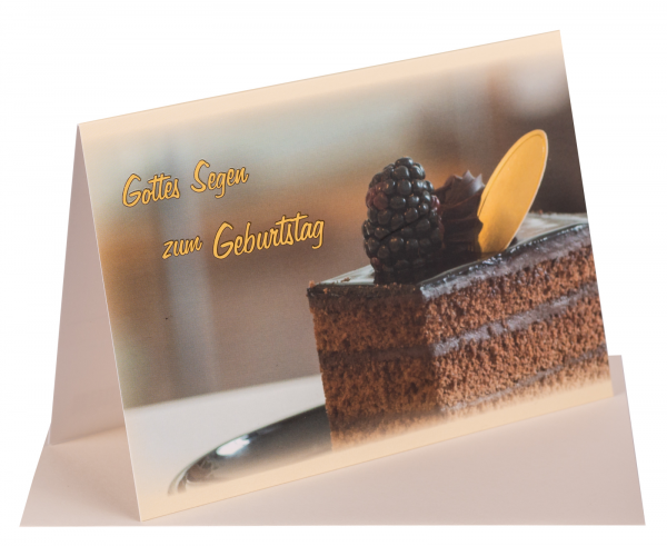 "Faltkarte ""Gottes Segen zum Geburtstag"""