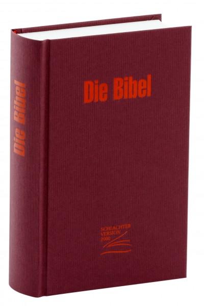 Schlachter 2000 Miniaturausgabe - Efalin rot / Hardcover / mit neuer Rechtschreibung / ohne Parallel