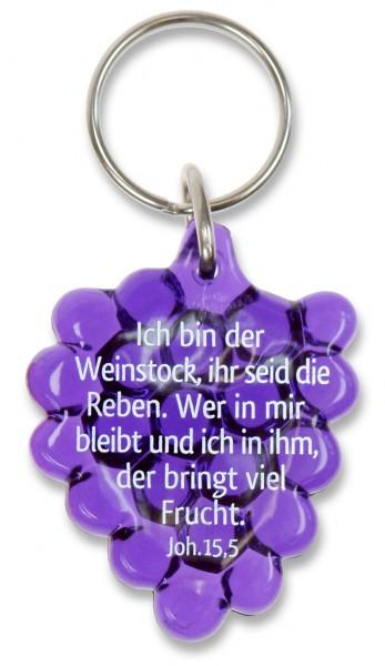 """Schlüsselanhänger """"Weintraube"""" lila"""