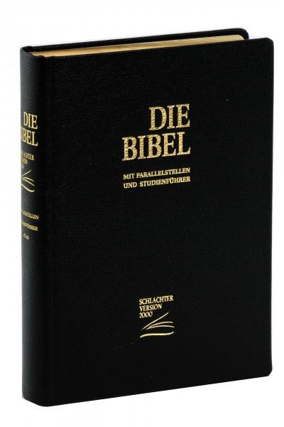Schlachter 2000 Standardausgabe - Rindleder schwarz / Hardcover / Goldschnitt / Fadenheftung / neue