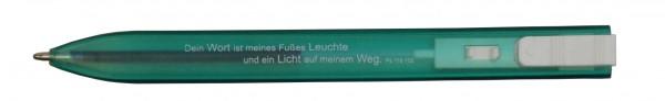 """Kugelschreiber """"Flach"""" in grün"""