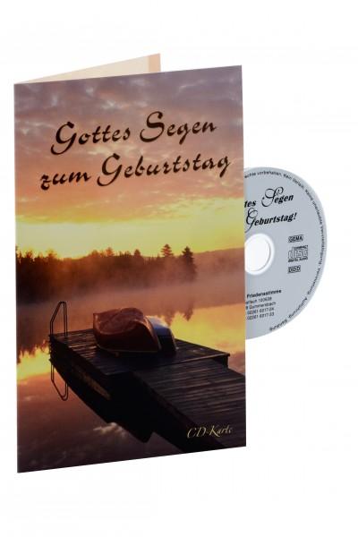 """CD-Karte """"Gottes Segen zum Geburtstag"""" (Steg)"""