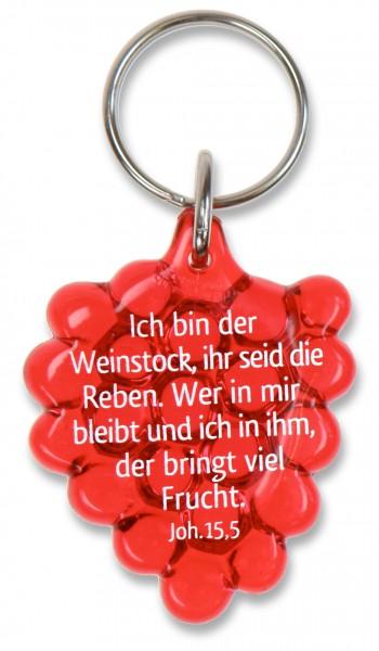 """Schlüsselanhänger """"Weintraube"""" rot"""