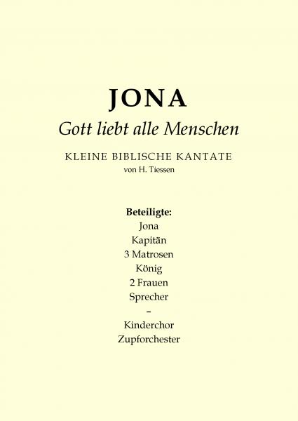Jona-Gott liebt alle Menschen (Chorheft)