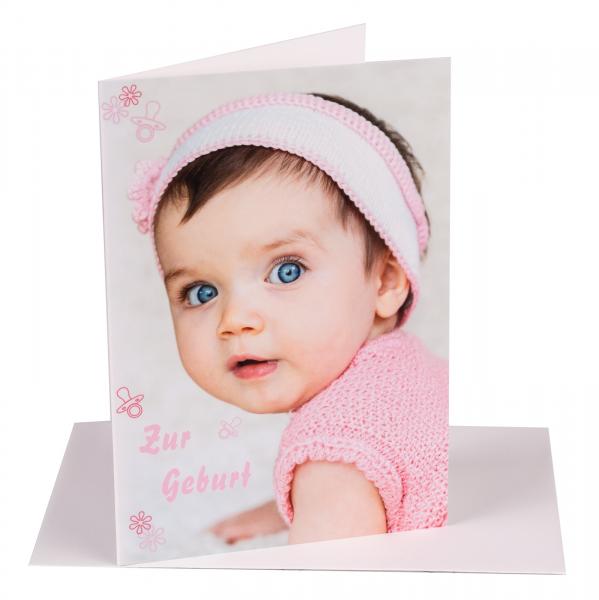 "Faltkarte ""Zur Geburt"""