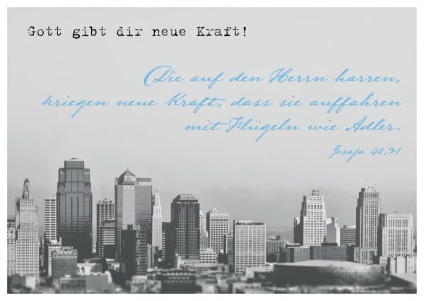 "Postkarte ""Gott gibt dir neue Kraft!"""
