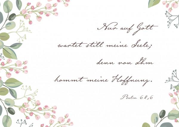 Postkarte - Rosa Blümchen