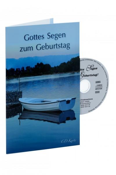 """CD-Karte """"Gottes Segen zum Geburtstag"""" (Boot)"""