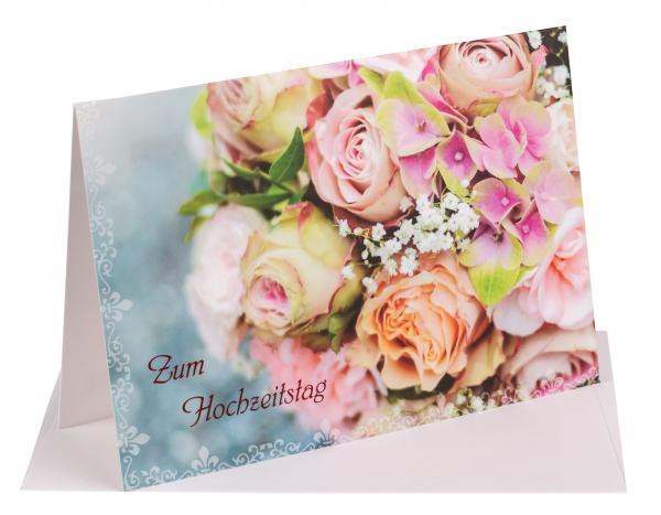 """Faltkarte """"Zum Hochzeitstag"""""""