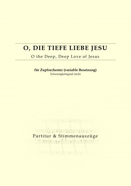 Partitur - O die tiefe Liebe Jesu