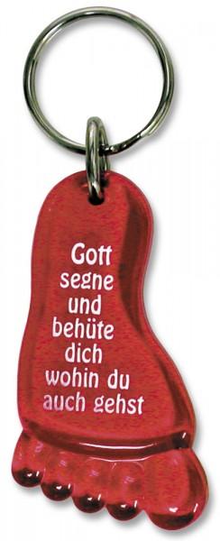 """Schlüsselanhänger """"Fuß"""" rot"""