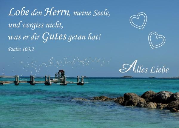 "Postkarte ""Alles Liebe"""