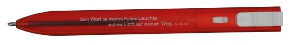"Kugelschreiber ""Flach"" in rot"