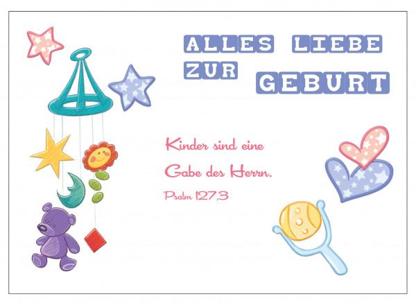 Postkarte - Zur Geburt