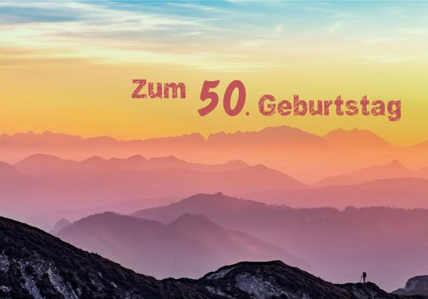 "Faltkarte ""Zum 50. Geburtstag"""
