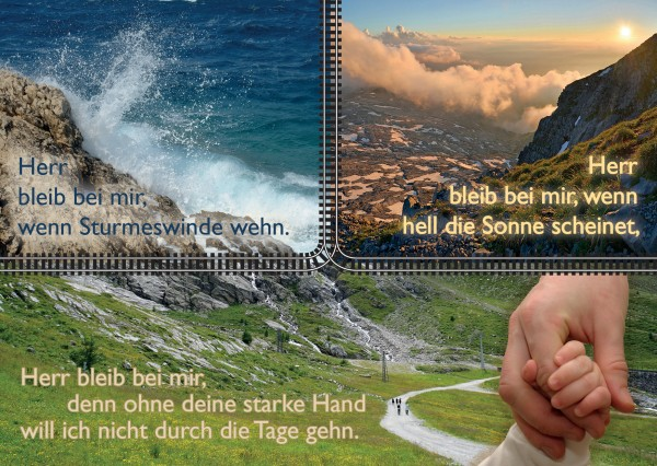 "Postkarte ""Herr bleib bei mir"""