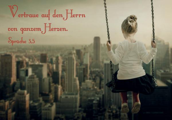 Motivkärtchen: Vertraue auf den Herrn