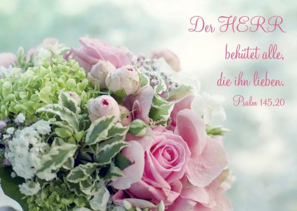 "Postkarte ""Blumenstrauß"""