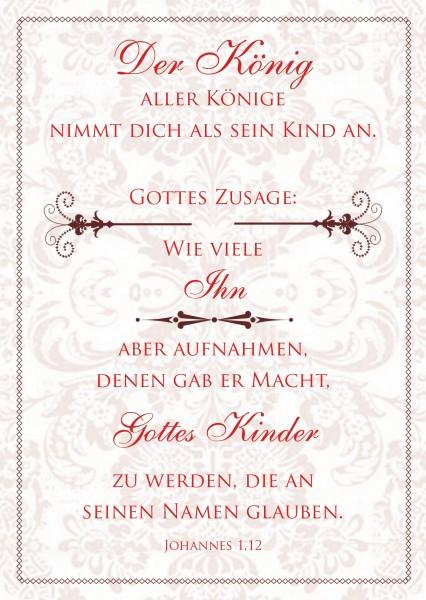 """Postkarte """"Der König aller Könige"""""""