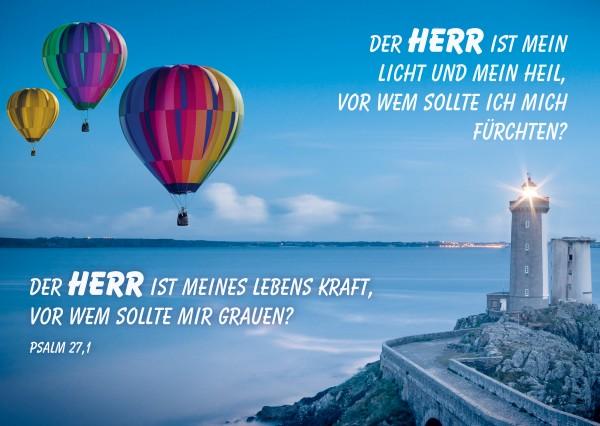 "Postkarte ""Heißluftballons"""