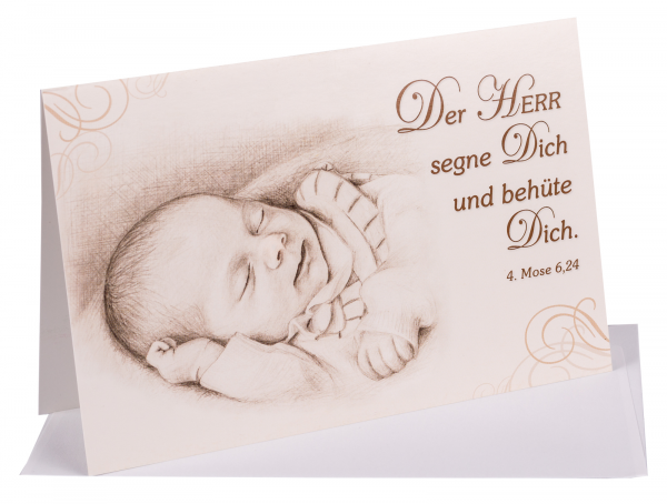 Faltkarte Baby