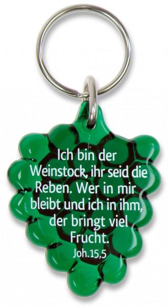 """Schlüsselanhänger """"Weintraube"""" grün"""