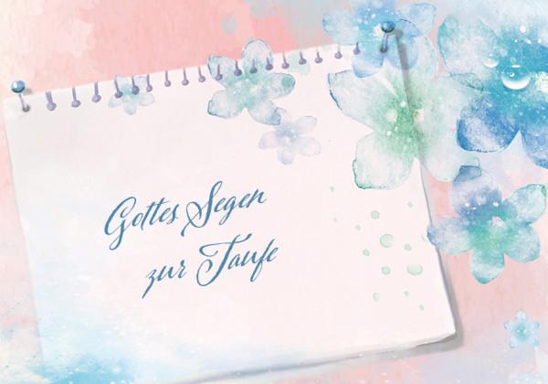 Faltkarte - Gottes Segen zur Taufe