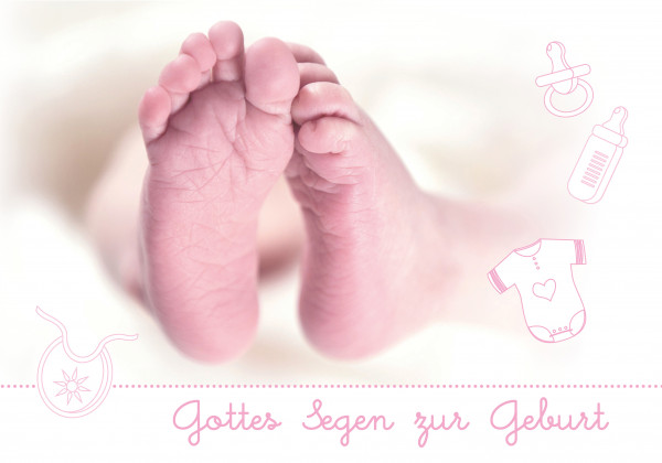 "Faltkarte ""Gottes Segen zur Geburt"""