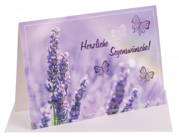 """Faltkarte """"Herzliche Segenswünsche!"""""""