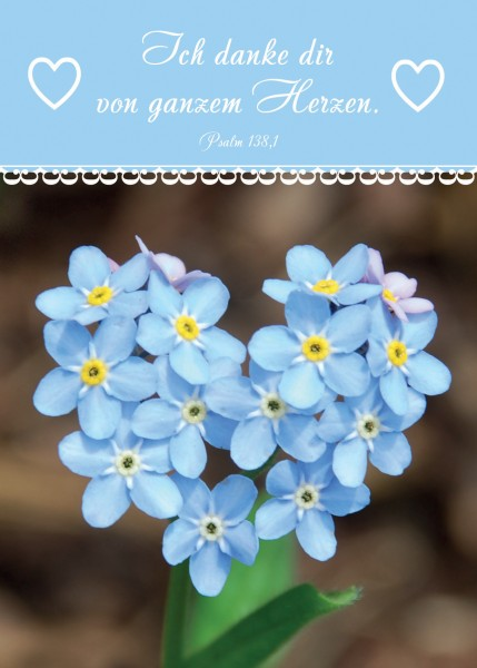 "Postkarte ""Blumenherz"""