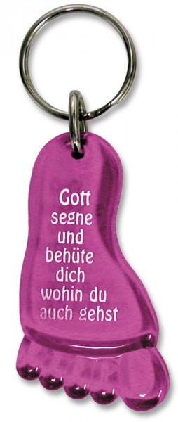"""Schlüsselanhänger """"Fuß"""" pink"""