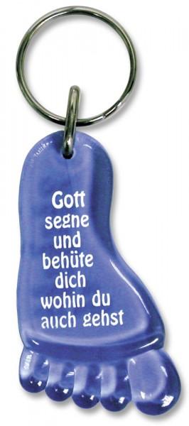 """Schlüsselanhänger """"Fuß"""" blau"""