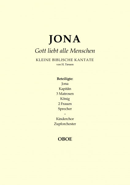 Jona - Gott liebt alle Menschen (Oboe)